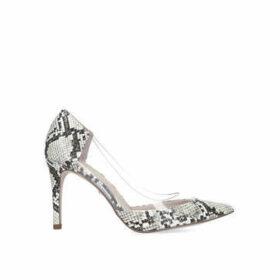 Kg Kurt Geiger Atlas - Snake Print Perspex Stiletto Heel Court Shoes