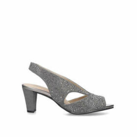 Carvela Comfort Talia - Grey Embellished Peep Toe Court Shoes