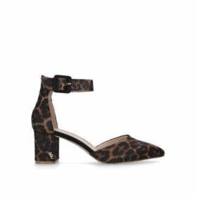 Kurt Geiger London Burlington - Leopard Print Block Heel Court Shoes