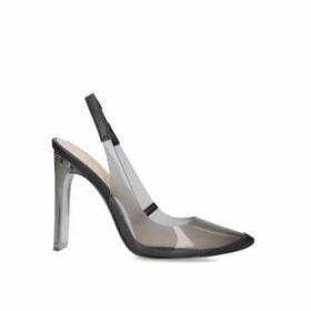 Aldo Feiwia - Black Perspex Slingback Court Heels