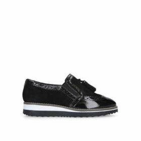 Carvela Maker - Black Flatform Tassel Loafers