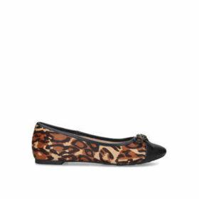 Kurt Geiger London Esme - Leopard Print Eagle Embellished Flats