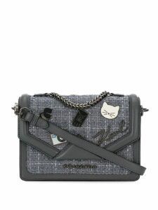 Karl Lagerfeld K/Klassik pins shoulder bag - Grey