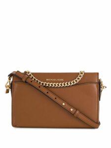 Michael Michael Kors leather shoulder bag - Brown