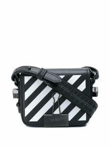 Off-White diagonal strip mini bag - Black