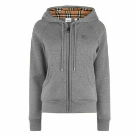 Burberry Logo Hooded Zip Sweatshirt
