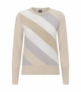Multi-tonal Diagonal Stripe Sweater