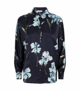 Satin Iris Print Shirt