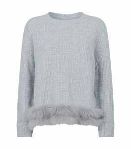 Fur Trim Sweater