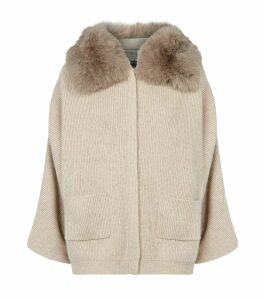 Kate Fur Collar Cardigan
