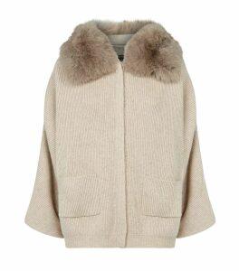 Kate Fur Collar Cardigan