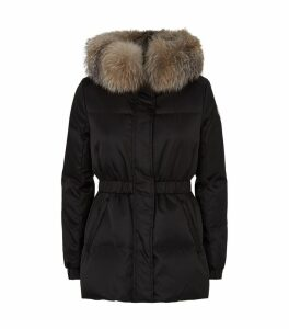 Fur Trim Fatsia Down Jacket