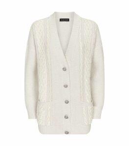 Sequin-Embellished Knit Cardigan