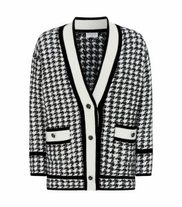 Houndstooth Knit Cardigan