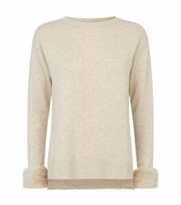 Fur Cuff Sweater