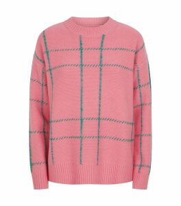 Wool Check Sweater