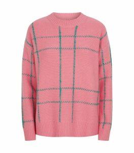 Wool Check Sweater