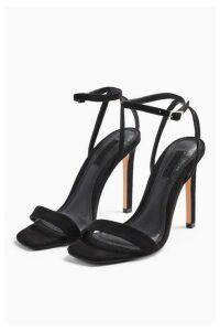Womens Saskia Black Skinny 2 Part Heels - Black, Black