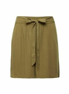 Womens **Vila Olive Tie Front Shorts, Olive