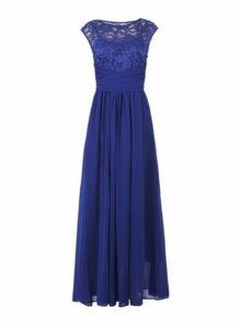 Womens *Jolie Moi Royal Blue Lace Maxi Dress, Blue