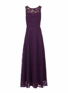 Womens *Jolie Moi Dark Purple Lace Maxi Dress, Purple