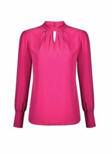 Womens Pink Honey Long Sleeve Top- Pink, Pink