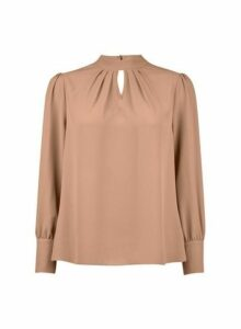 Womens Petite Camel 'Honey' Top- Brown, Brown
