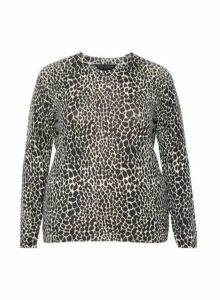Womens Dp Curve Multicolour Animal Print Jumper - Multi Colour, Multi Colour