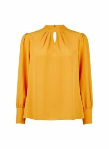 Womens Petite Yellow 'Honey' Top, Yellow