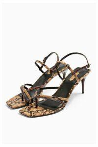 Womens Nicole Snake Strappy Sandals - Multi, Multi