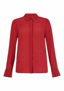 Silk Odette Shirt Scarlet Red