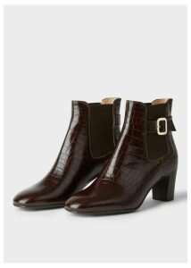 Patricia Buckle Boot Chocolate Croc