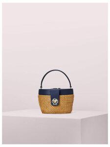Rose Medium Top Handle Basket Bag - Blazer Blue - One Size