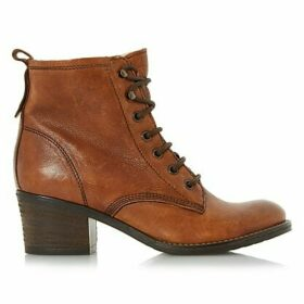 Dune Patsie D Lace Up Ankle Boots, Tan