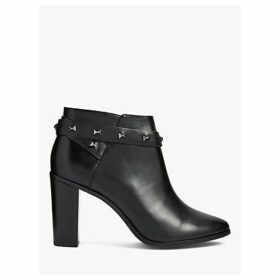 Ted Baker Dottaa Studded Leather Ankle Boots, Black