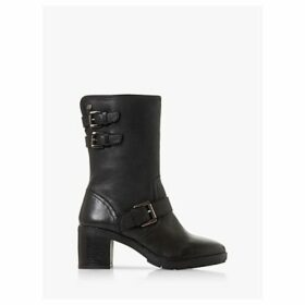 Dune Rileys Leather Calf Boots, Black