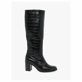 Gabor Libby Leather Knee High Boots, Black