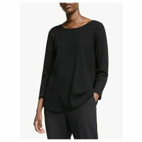 EILEEN FISHER Ballet Neck Top, Black