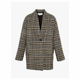 Gerard Darel Venus Tailored Check Coat, Grey
