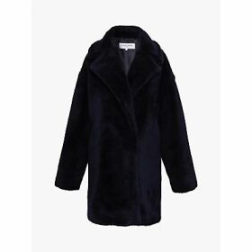 Gerard Darel Perrine Faux Fur Coat, Blue