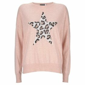 Mint Velvet Blush Animal Star Front Knit