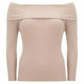 Mint Velvet Blush Bardot Ribbed Knit