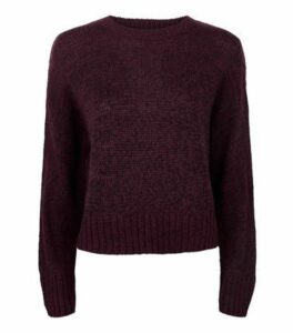 Burgundy Crew Neck Jumper New Look