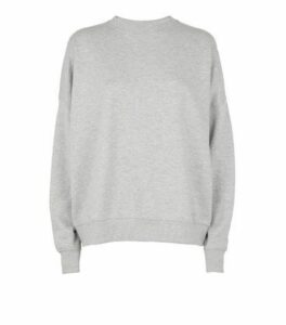 Grey Diamanté Embellished Sweatshirt New Look