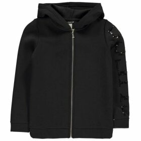 Guess Sequin Zip Hoody - Jet Black A996