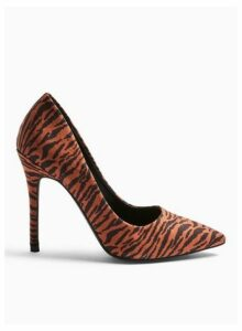 Womens Wide Fit Caterina Stiletto Court Shoes, BROWN