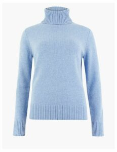 M&S Collection Wool Rich Roll Neck Jumper