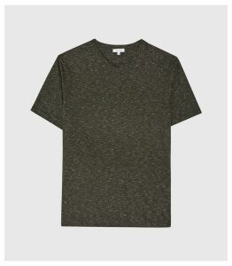 Reiss District - Melange Crew Neck T-shirt in Green, Mens, Size XXL