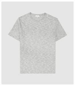 Reiss Ryan - Melange Cotton Blend T-shirt in Grey, Mens, Size XXL