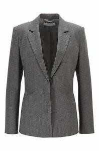 Relaxed-fit jacket in melange stretch wool